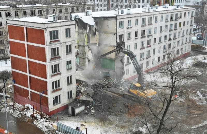 Фото – снос пятиэтажек в Москве в процессе реновации